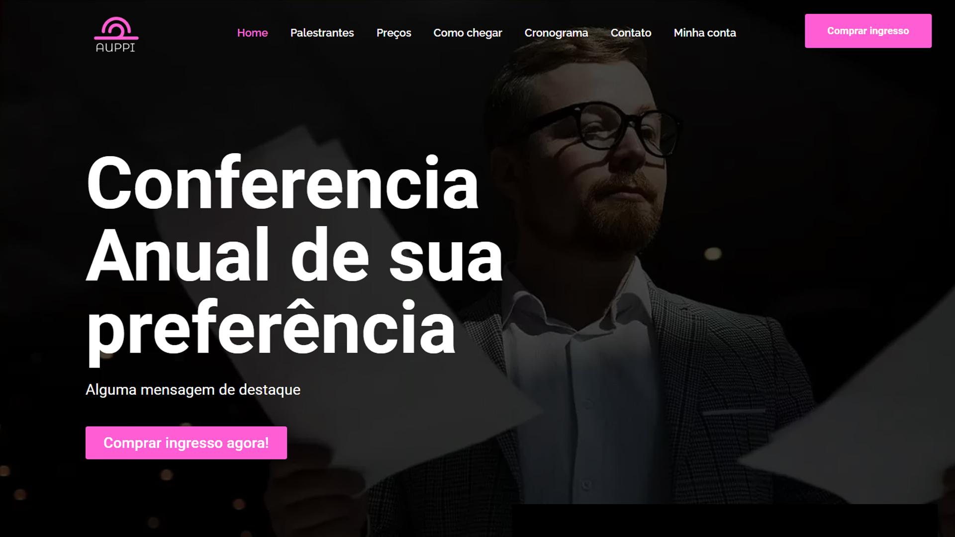 portfolio criação de sites modelo conferencia
