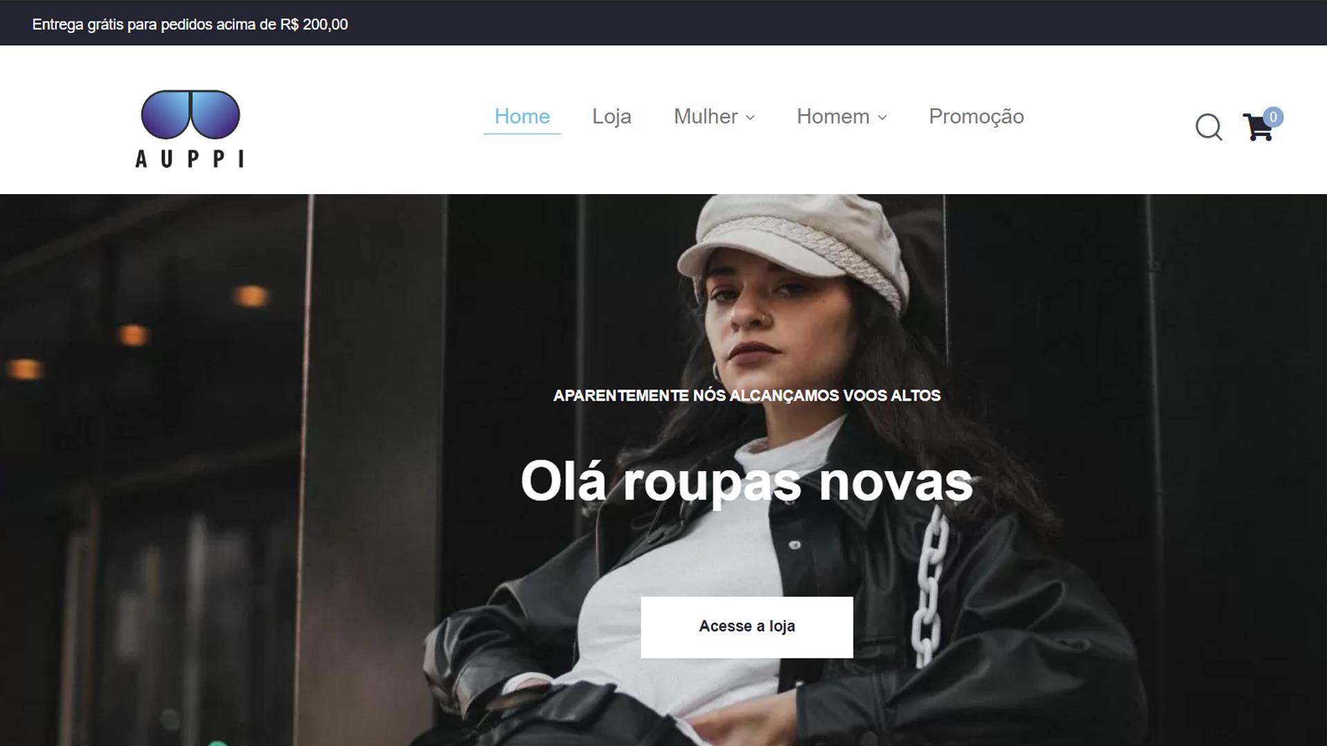 portfolio criação de sites modelo loja