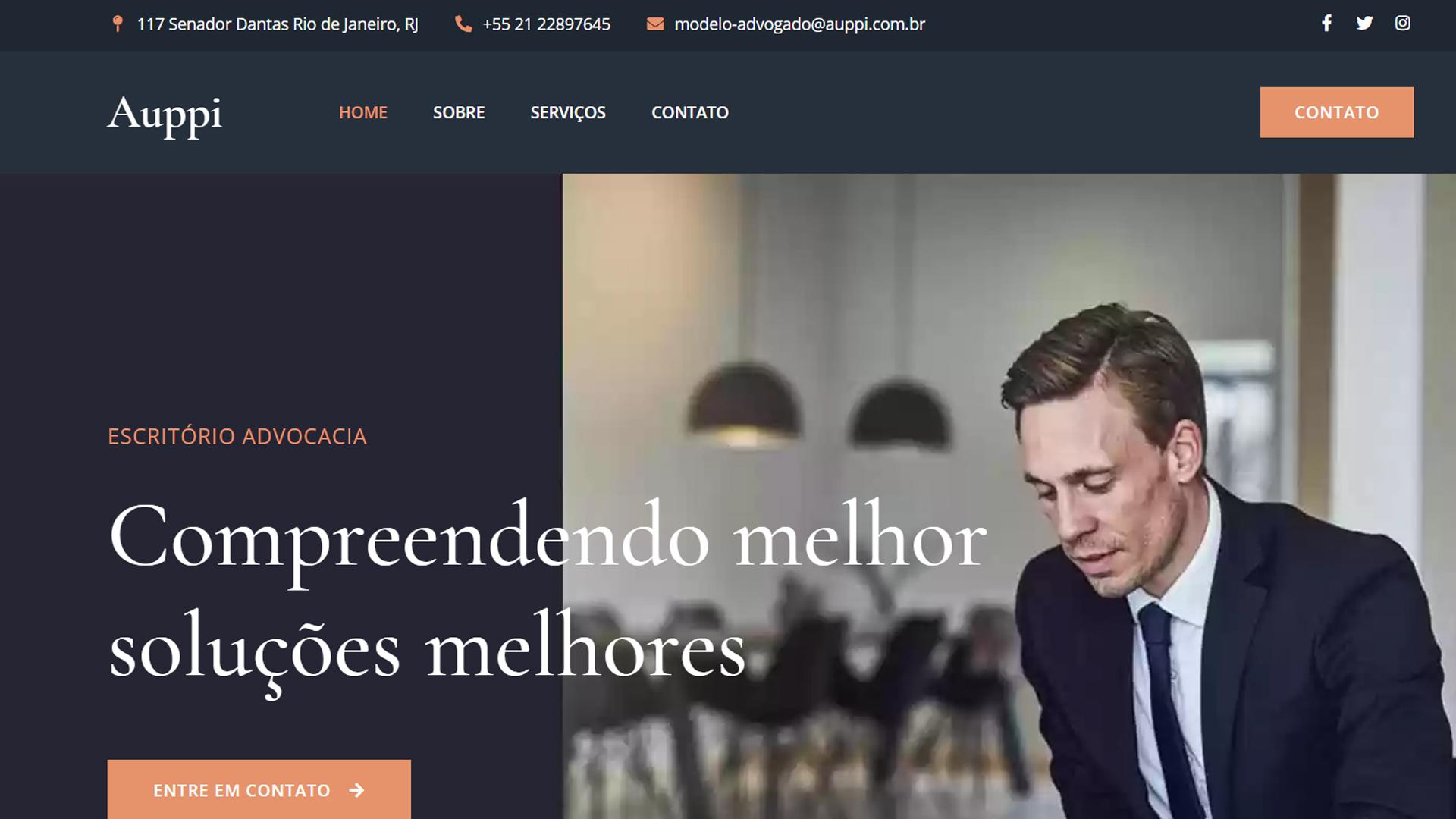portfolio criação de sites modelo advogado