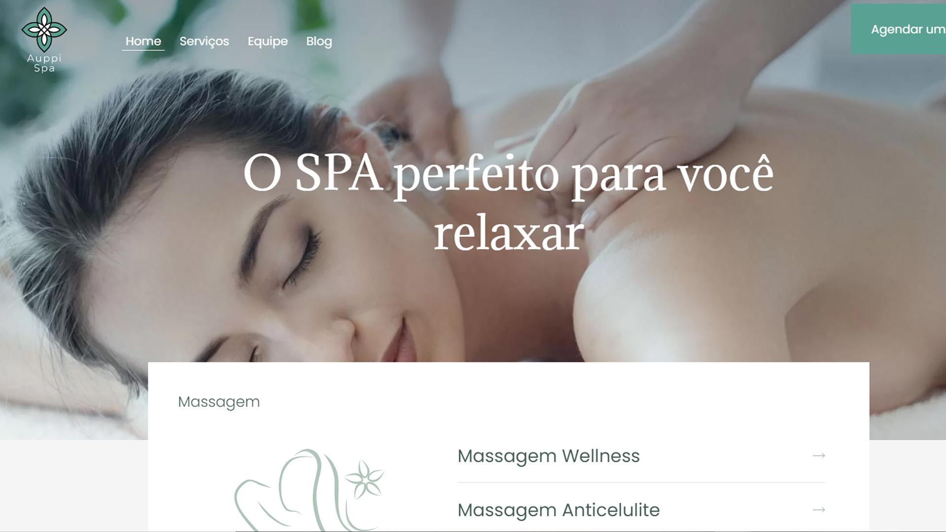 portfolio criação de sites modelo spa