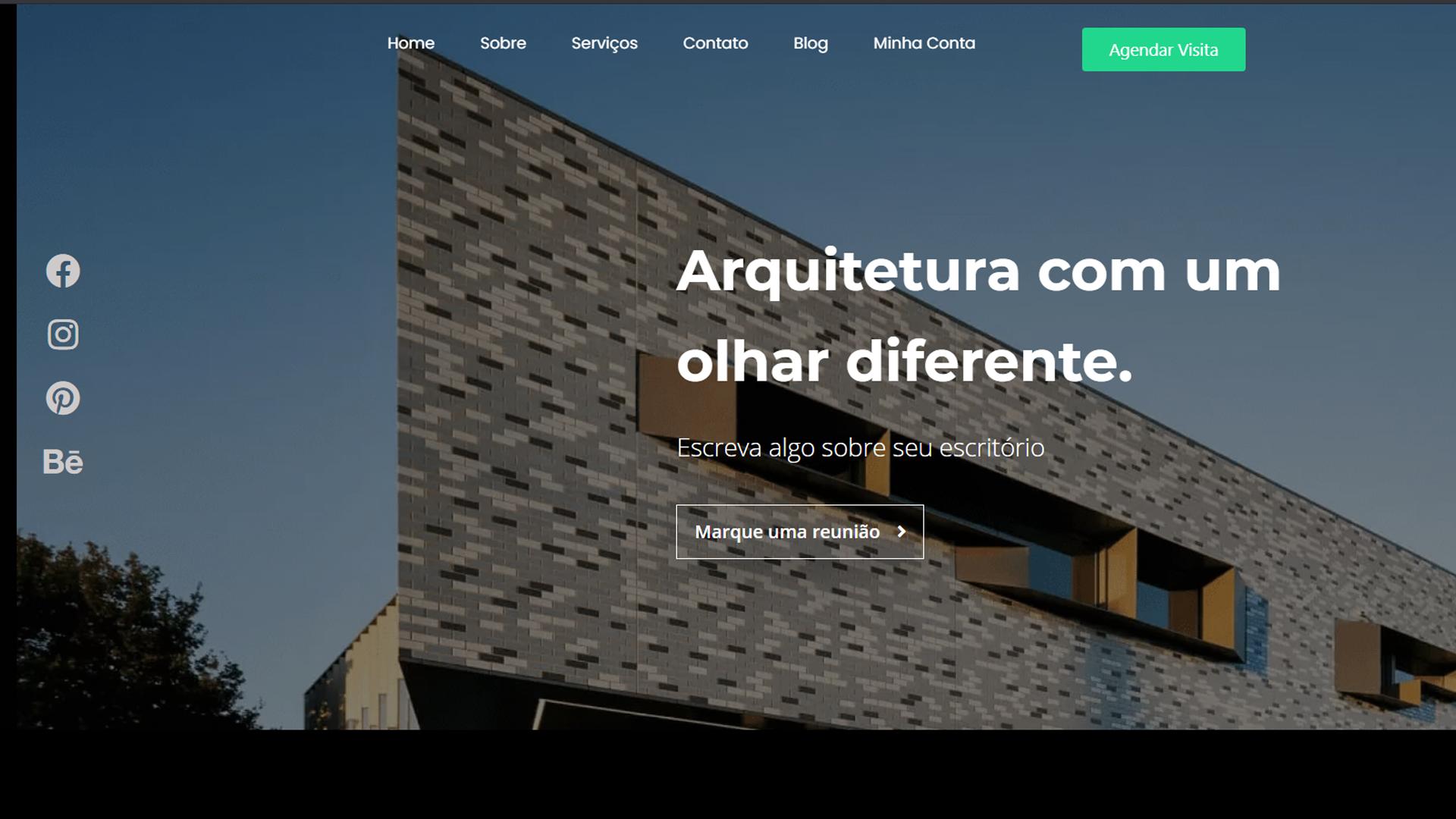 portfolio criação de sites modelo arquiteto