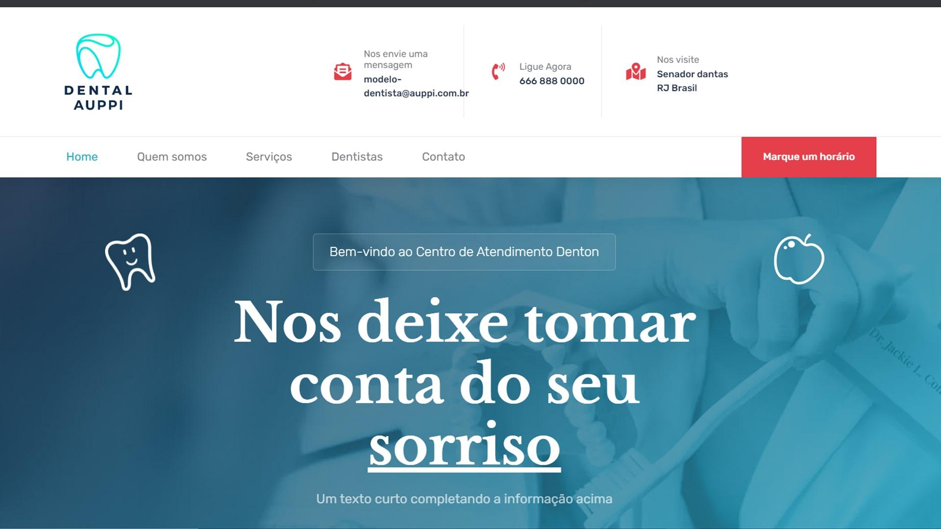 portfolio criação de sites modelo dentista 4